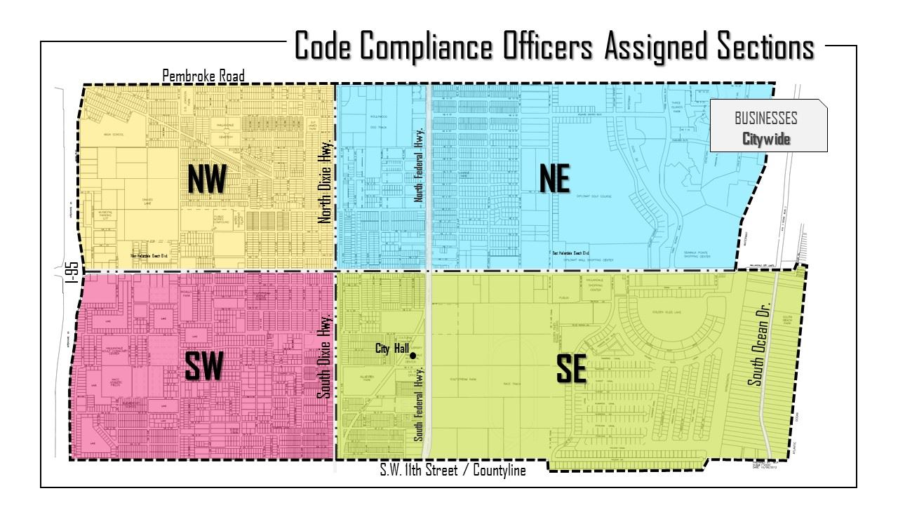 Code Compliance Officers Assigned Sections