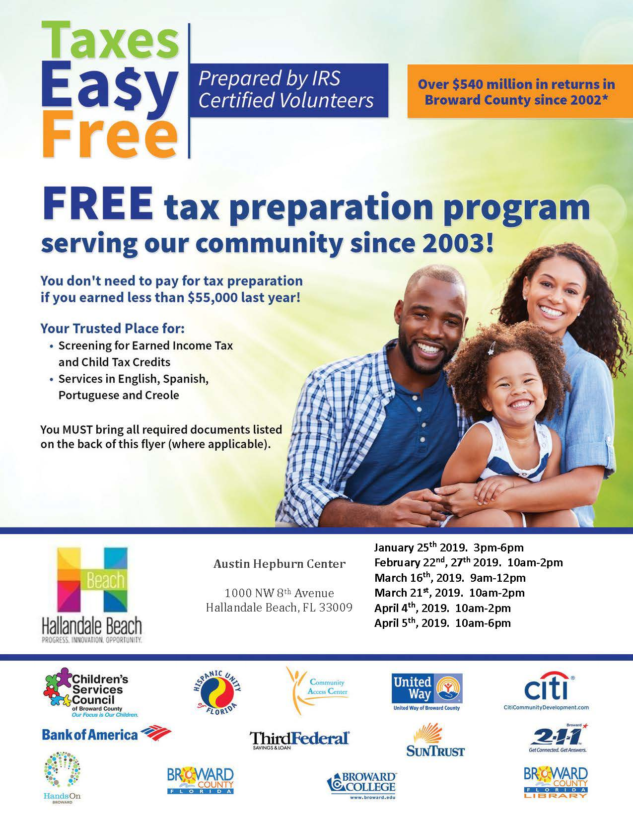 Free Income Tax Preparation English Flyer - 2019_Page_1