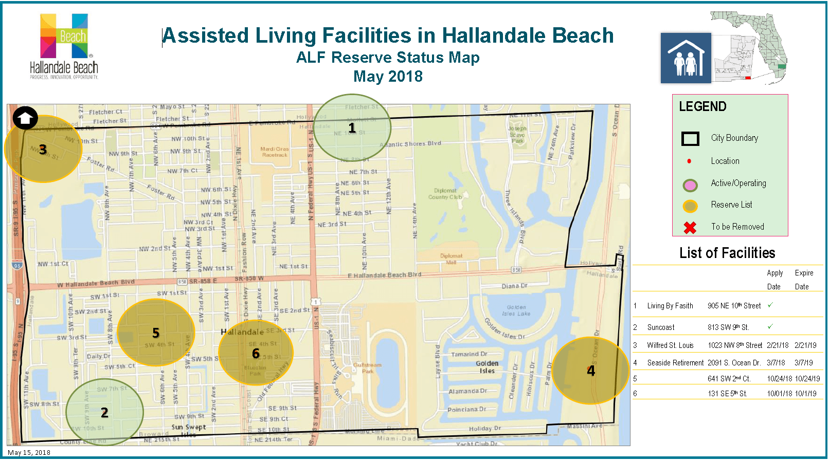 Assisted Living Facilities Status Map