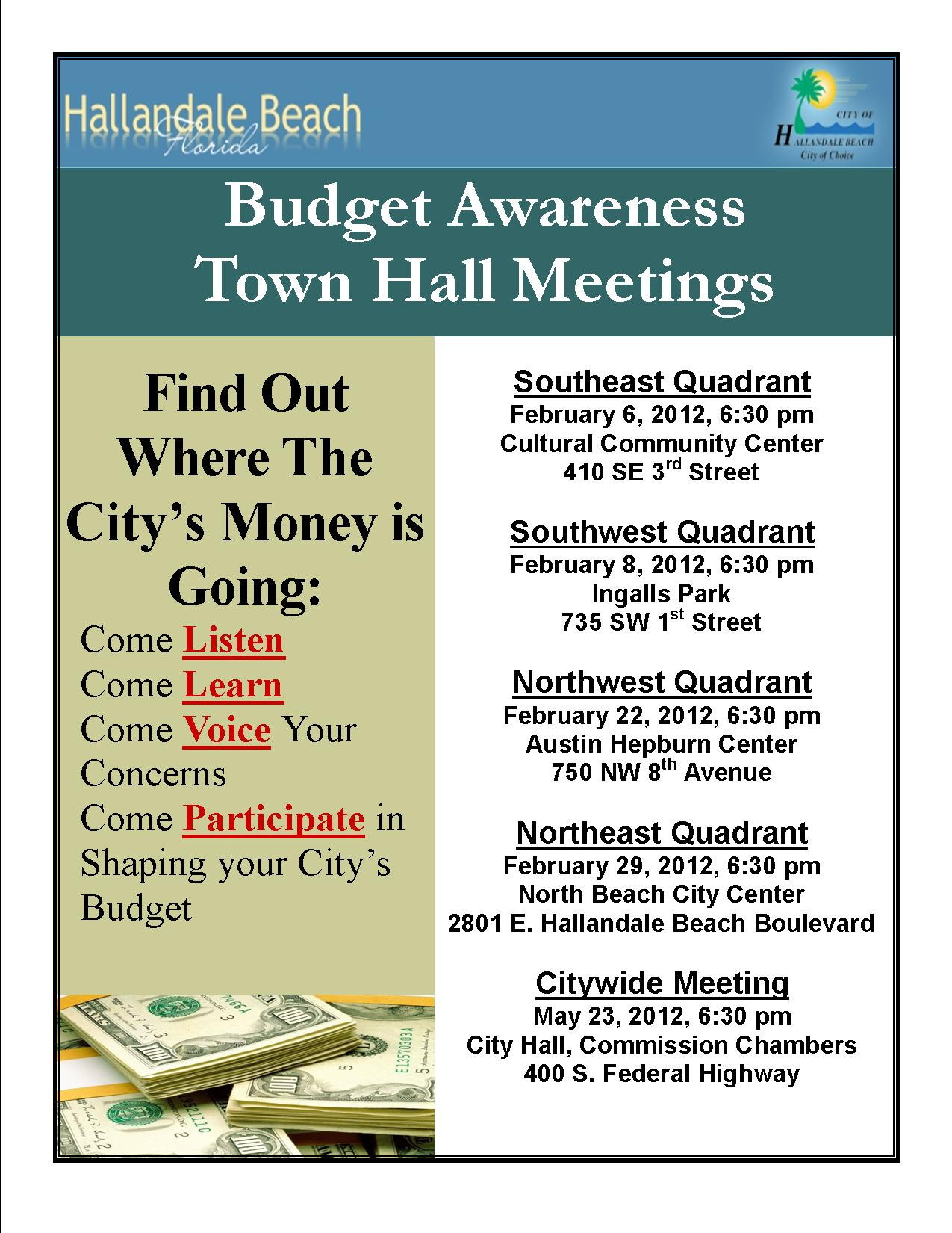 COHB Town Hall Meetings 2012